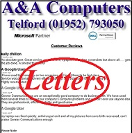 A&A Shropshire Computer Repair Customer Letters, Reviews